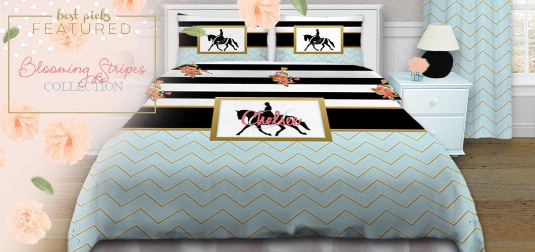 Blooming Stripes Horse Bedding