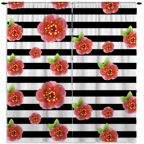 #417_Window Curtain Floral